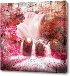 Красный водопад