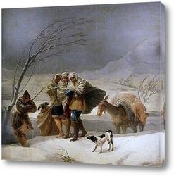 Картина Метель или зима