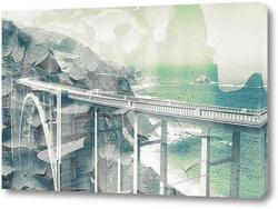 Постер Мост через пролив