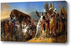 Картина Наполеон отдает честь раненым воинам, 1806