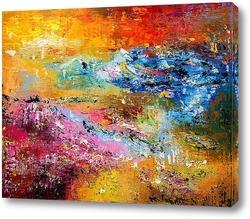 Картина Лавандовое поле на закате