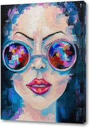 Постер Девушка в цветных очках