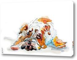 Картина Грустная собака