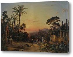 Вид Рима на закате