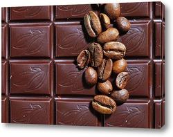 Постер кофе и шоколад