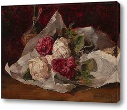 Натюрморт с цветами и стеклом, 1879