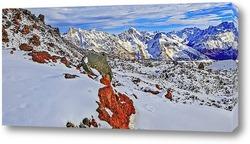Постер Горная панорама Кавказских гор. Кабардино-Балкария