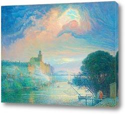 Картина Вид на дворец Санкт-Эрик, Стокгольм.