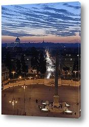 Закат солнца в Риме