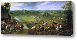 Картина Жизнь Фламандской деревни