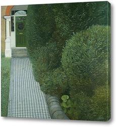 Картина Пейзаж с зелёной дверью