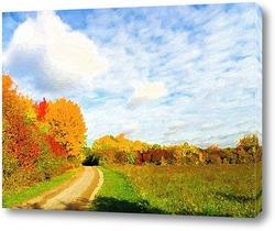 Постер Осенняя дорога
