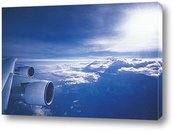 passagierflugzeug und Гјber den alpen