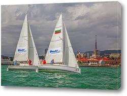 Постер Регата гоночных яхт