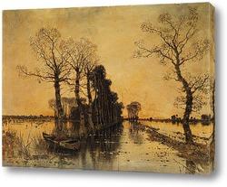 Картина Мурленд.Пейзаж с затопленной алеей