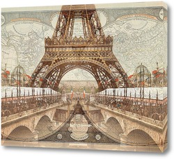Постер Ретро Париж