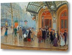 Картина Театр дю водевиль, Париж