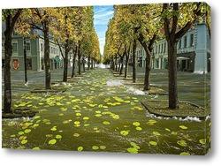 Картина Наводнение в аллее Лайсвес