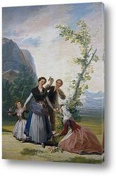 Картина Девушка с цветами или весна
