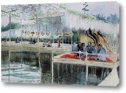 Постер Японский чайный дом
