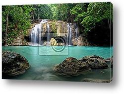 Waterfall in Kanchanaburi Province,Thailand