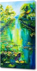 Картина Зелёная река