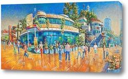 "Постер Картина: ""Набережная пляжа Маяк"""