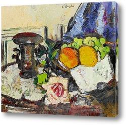 Натюрморт с апельсинами и виноградом