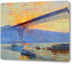 Картина Аврора Бридж, Сиэтл, Вашингтон
