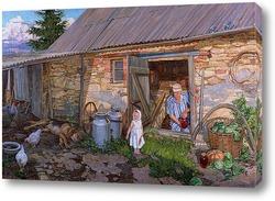 Картина Из деревенской жизни