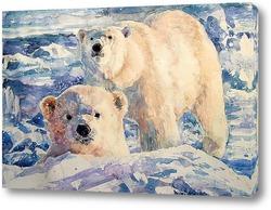 """Картина Любопытный. Из серии """"Среди снегов и метелей"""""""