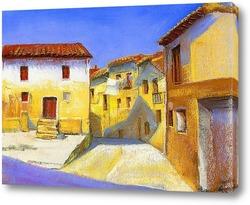 Узкие улицы и внутренний дворик в тосканской деревне