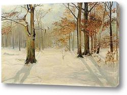 Постер Зимний лес