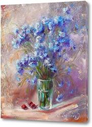 Картина Букет цветы  васильки