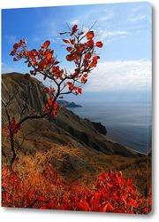 Постер японский мотив Крымских гор