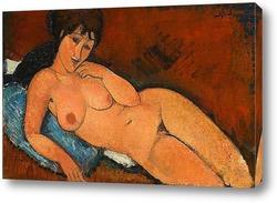 Картина Обнаженная на синей подушке, 1917
