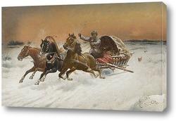 Картина Побег от волков
