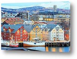 Постер  Город Тромсе. Норвегия