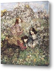 Сбор цветов в лесу