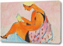 Картина Читающая девушка