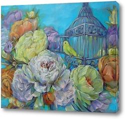 Картина Прованс. Лимонный попугай