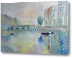 Картина Санкт-Петербург. Впечатление тумана.