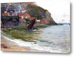 Картина Парусник на побережье