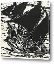 Постер Парусная лодка у Фемарна