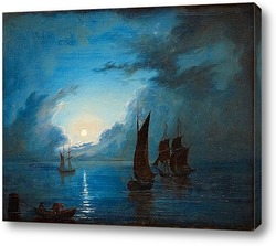 Корабль в закат