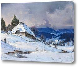 Постер Бурная погода в заснеженном Шварцвальде
