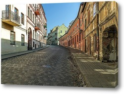Постер Старая улица в Вильнюсе