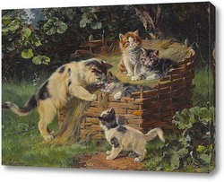 Картина Кошка со своими четырьмя мальчиками