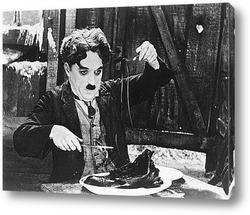 """Чарли Чаплин и Палетта Годар в фильме\""""Новые времена\"""",1936г."""