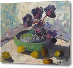 Картина Ирисы и фрукты, 1934